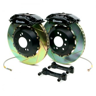 BREMBO� - GT Series Slotted Black Brake Kit (4-Piston Caliper, 2-Piece Rotor)