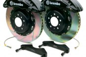 Brembo® - GT Series Slotted Black Brake Kit (6-Piston Caliper, 1-Piece Rotor)