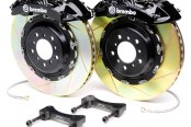 Brembo® - GT Series Slotted Black Brake Kit (6-Piston Caliper, 2-Piece Rotor)