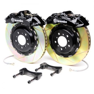 BREMBO� - GT Series Slotted Black Brake Kit (6-Piston Caliper, 2-Piece Rotor)
