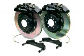 Brembo® - GT Series Slotted Black Brake Kit (8-Piston Caliper, 2-Piece Rotor)
