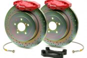 Brembo® - GT Series Slotted Red Brake Kit (2-Piston Caliper, 1-Piece Rotor)
