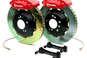 BREMBO� - GT Series Slotted Red Brake Kit (4-Piston Caliper, 1-Piece Rotor)