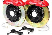 BREMBO� - GT Series Slotted Red Brake Kit (6-Piston Caliper, 2-Piece Rotor)