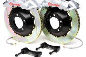 BREMBO� - GT Series Slotted Silver Brake Kit (6-Piston Caliper, 2-Piece Rotor)