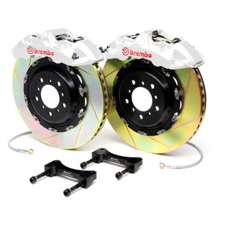 Brembo® - GT Series Slotted White Brake Kit