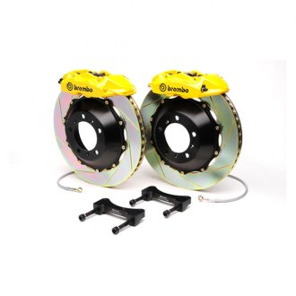 BREMBO� - GT Series Slotted Yellow Brake Kit (4-Piston Caliper, 1-Piece Rotor)
