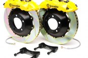 Brembo® - GT Series Slotted Yellow Brake Kit (6-Piston Caliper, 1-Piece Rotor)