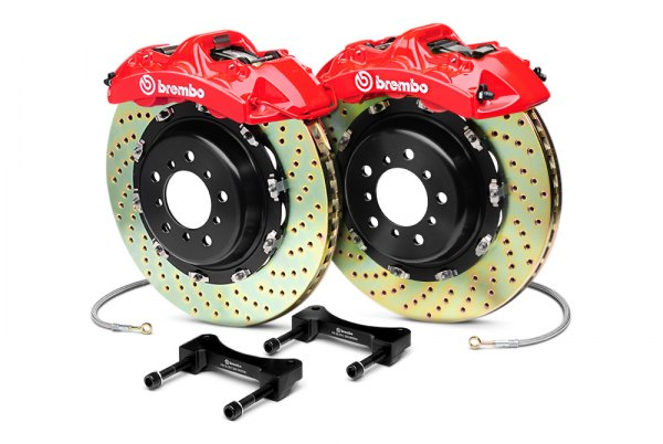 Brembo® - GT Series Red Brake Kit (4-Piston Caliper, 2-Piece Rotor)