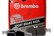 Image may not reflect your exact vehicle! Brembo® - Sport Rear Brake Pads