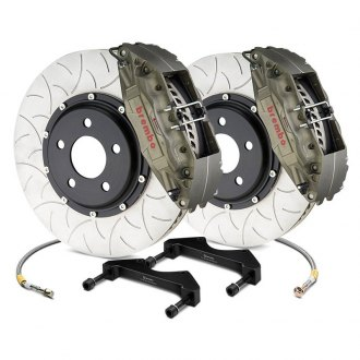 Brembo® - Racing Series Slotted Type III Anodized 2-Piece Rotor Front Brake Kit