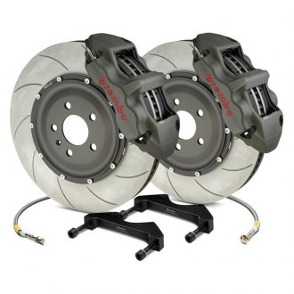 Brembo® - Racing Series Slotted Type V Anodized 2-Piece Rotor Brake Kit