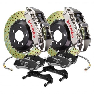 Brembo® - GT-R Series Cross Drilled 2-Piece Rotor Big Brake Kit