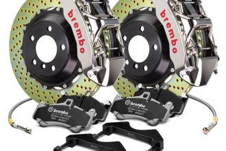 Brembo® - GT-R Series Cross Drilled 2-Piece Rotor Brake Kit