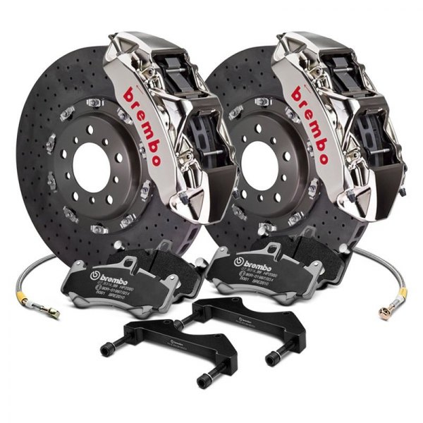Brembo® - GT-R Series Cross Drilled CCM-R Front Big Brake Kit