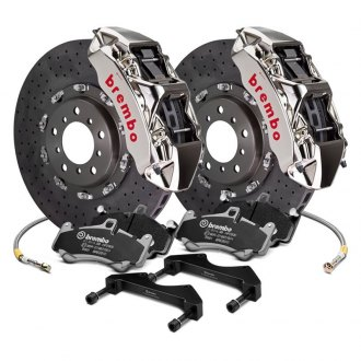 Brembo® - GT-R Series CCM-R Cross Drilled 2-Piece Rotor Big Brake Kit