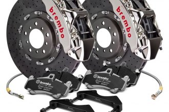 Brembo® - GT-R Series CCM-R Cross Drilled 2-Piece Rotor Brake Kit