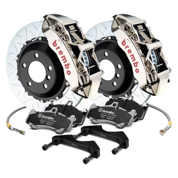 Image may not reflect your exact vehicle! Brembo® - GT-R Series Curved Vane Type III Front Big Brake Kit