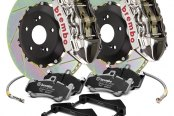 Brembo® - GT-R Series Slotted 2-Piece Rotor Rear Brake Kit