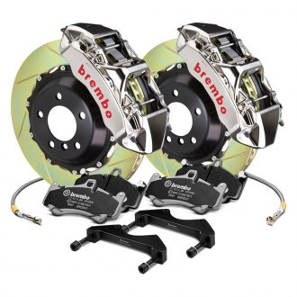 Brembo® - GT-R Series Slotted 2-Piece Rotor Front Brake Kit