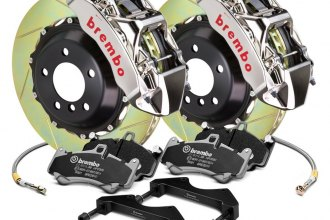 Brembo® - GT-R Series Slotted 2-Piece Rotor Brake Kit