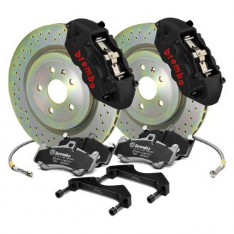 Brembo® - GT-S Series Cross Drilled 1-Piece Rotor Front Big Brake Kit