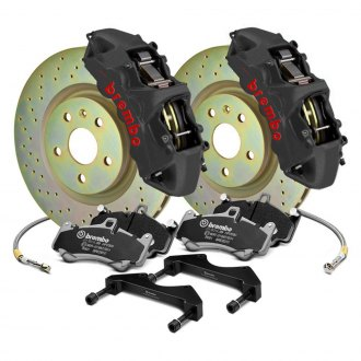 Brembo® - GT-S Series Cross Drilled 1-Piece Rotor Big Brake Kit
