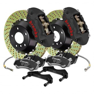 Brembo® - GT-S Series Cross Drilled 2-Piece Rotor Big Brake Kit