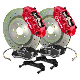 Brembo® - GT Series Cross Drilled 1-Piece Rotor Brake Kit