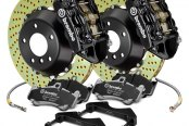 Brembo® - GT Series Cross Drilled 2-Piece Rotor Rear Brake Kit