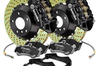 Brembo® 1B1.8046A1 - GT Series Cross Drilled Black 2-Piece Rotor Front Brake Kit