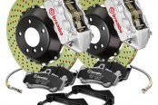 Image may not reflect your exact vehicle! Brembo® - GT Series Cross Drilled Front Big Brake Kit