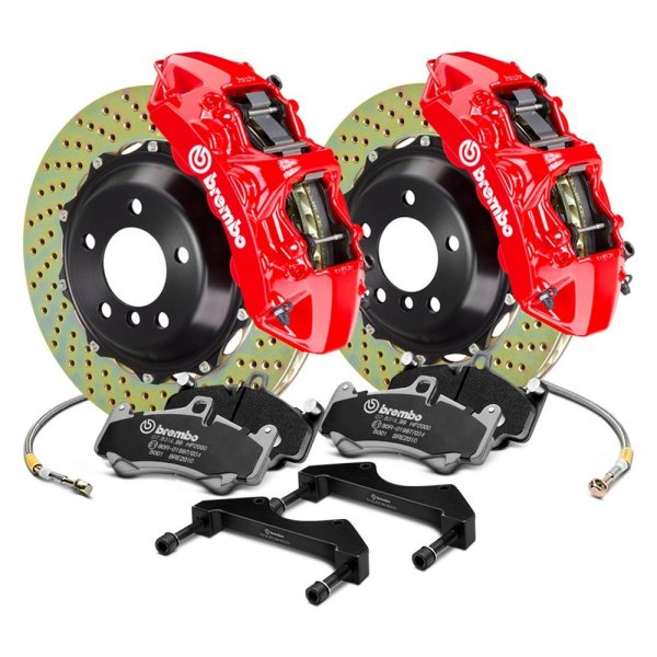 Brembo® - GT Series Cross Drilled 2-Piece Rotor Front Brake Kit
