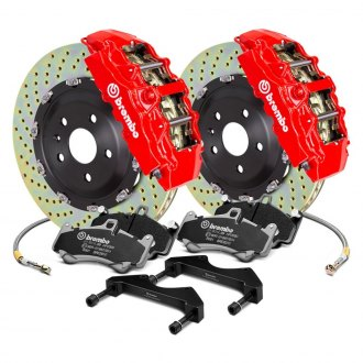 Brembo® - GT Series Cross Drilled 2-Piece Rotor Brake Kit