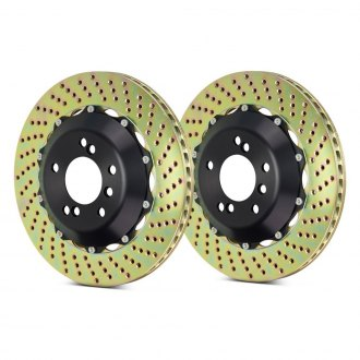 Brembo® - GT Series Cross Drilled 2-Piece Front Brake Rotors