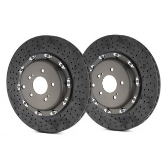 Brembo® - GT Series CCM-R Cross Drilled 2-Piece Rotor Rear Brake Rotors