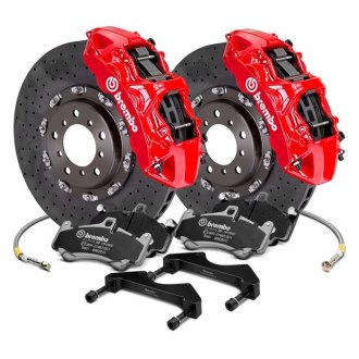 Brembo® - GT Series CCM-R Cross Drilled 2-Piece Rotor Big Brake Kit