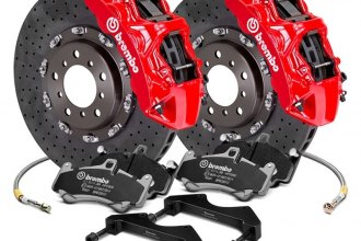 Brembo® - GT Series CCM-R Cross Drilled 2-Piece Rotor Brake Kit