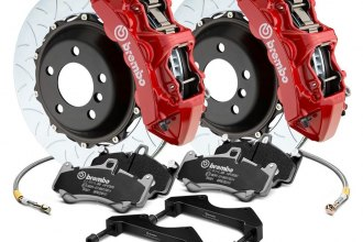 Brembo® - GT Series Curved Vane Type III 2-Piece Rotor Brake Kit