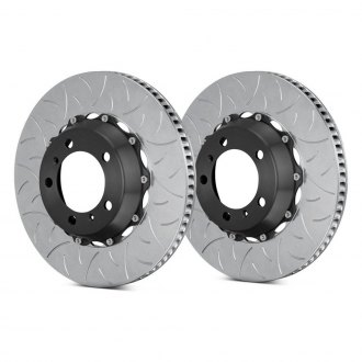 Brembo® - GT Series Curved Vane Type III Slotted Vented 2-Piece Brake Rotors
