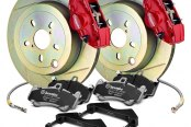 Brembo® - GT Series Slotted 1-Piece Rotor Rear Brake Kit