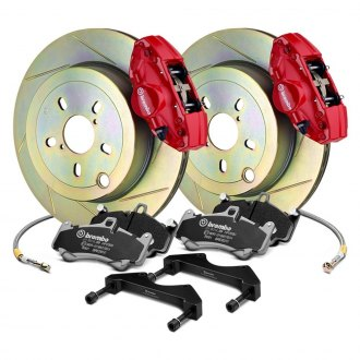 Brembo® - GT Series Slotted 1-Piece Rotor Brake Kit