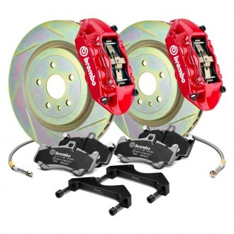 Brembo® - GT Series Slotted 1-Piece Rotor Front Brake Kit