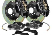 Brembo® - GT Series Slotted 2-Piece Rotor Rear Brake Kit