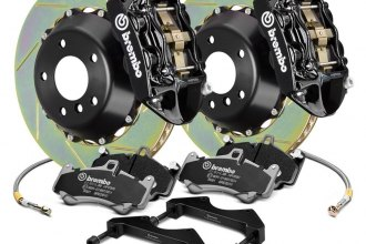 Brembo® 122.7005A1 - GT Series Slotted Black 2-Piece Rotor Front Brake Kit