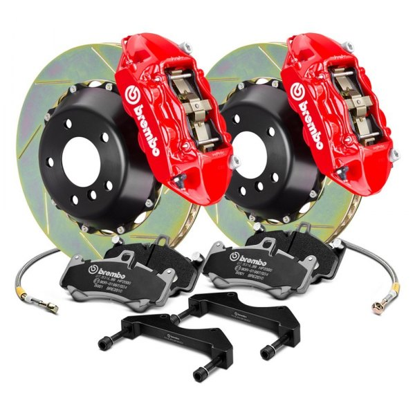 Brembo® - GT Series Slotted 2-Piece Rotor Front Brake Kit