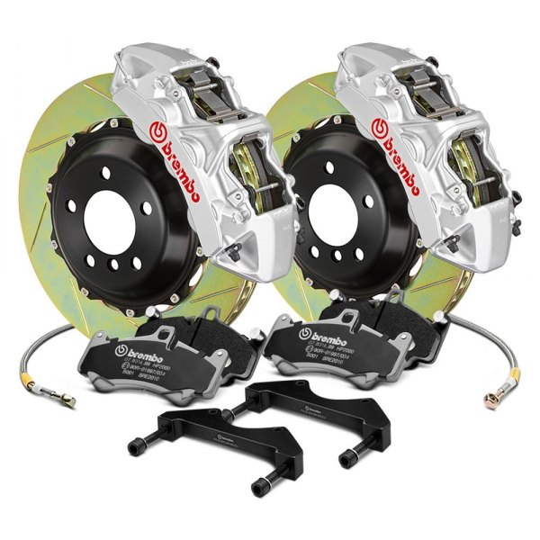 Image may not reflect your exact vehicle! Brembo® - GT Series Slotted Front Big Brake Kit