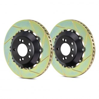 Brembo® - GT Series Slotted 2-Piece Rear Brake Rotors