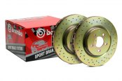 Brembo® - Sport Cross Drilled 1-Piece Front Brake Rotors