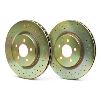Brembo® - Sport Cross Drilled 1-Piece Rotor Front Brake Rotors